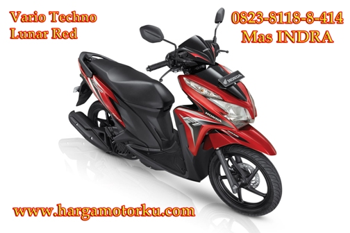 Brosur Daftar Harga Tunai Cash Kredit sepeda motor honda beat cbs full injection supra x revo new CBR street fire spacy repsol tree color verza scoopy blade pcx mega pro termurah Vario di dealer showroom pekanbaru Vario Techno lunar Red
