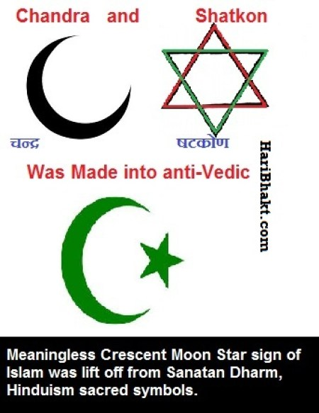 Super Theft by Islam: Anti-Hindu symbols of islam are insiprations of Vedic symbols and shapes