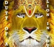 Duty of Lion in a Hindu