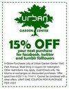 Like, follow Urban Garden Center in Spanish Harlem to receive discount