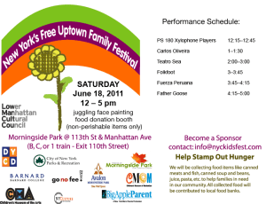 Sixth Annual NYC KidFest June 18 in Harlem