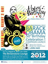 Harlem4Obama   At The Brownstone Lounge