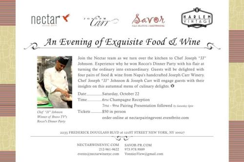 273 NECTAR An Evening of Exquisite Food & Wine