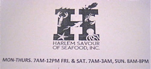 NEW RESTAURANT H Harlem Savour Of Seafood