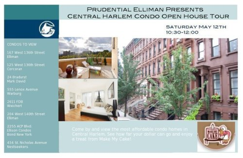 Central Harlem Condo Tour   May 12th