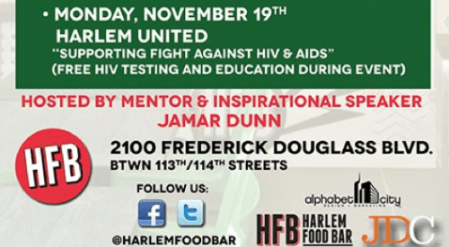Reminder: Harlem Food Bar GIVES BACK ON MONDAYS!