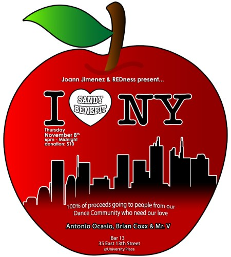 I ♥ NY Sandy Benefit   Spreading LOVE to those that NEED it