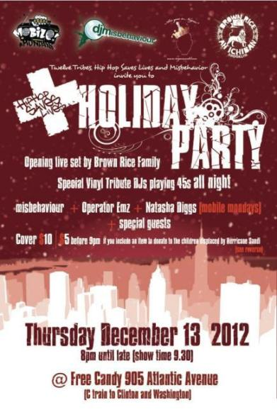 Hip Hop Saves Lives Holiday Party 12/13/12