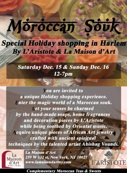 Moroccan Souk   Special Holiday shopping in Harlem this weekend