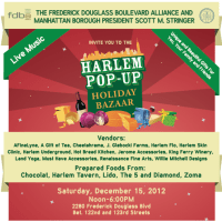 HARLEM POP-UP 'HOLIDAY BAZAAR' 12/15/12