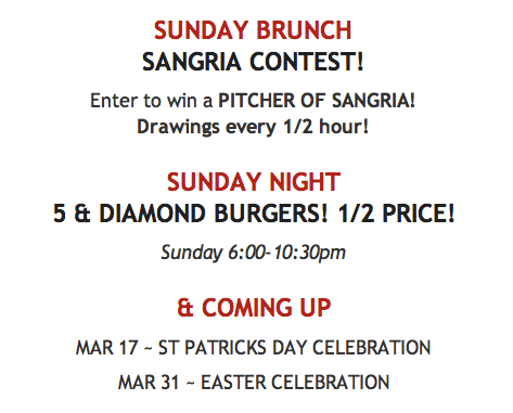Screen Shot 2013 03 09 at 4.38.18 PM The 5 And Diamond Harlem   Saturdays & Sunday Brunch!