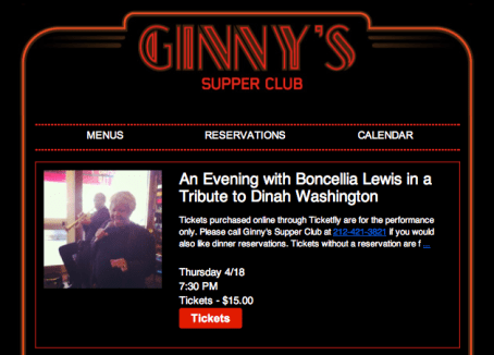 Live Music This Week at Ginnys... In Harlem