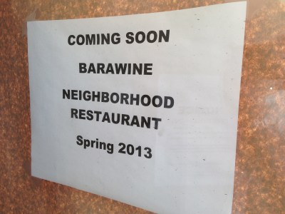 Barawine Restaurant Soon To Open in Harlem