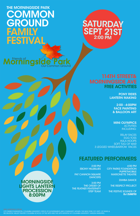 Reminder Common Ground Festival In Harlems Morningside Park Sat. 9/21