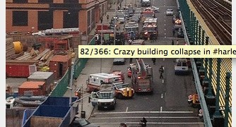 Breaking news – Buildings explode in Harlem
