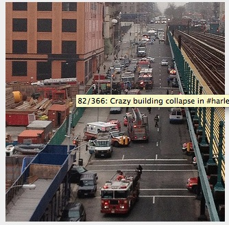 building collapse harlem