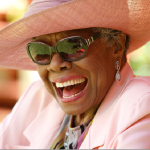 "QUOTE:  Maya Angelou ""The free bird leaps"""