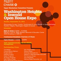 Washington Heights & Inwood Open House Expo Sunday September 21 #liveuptown