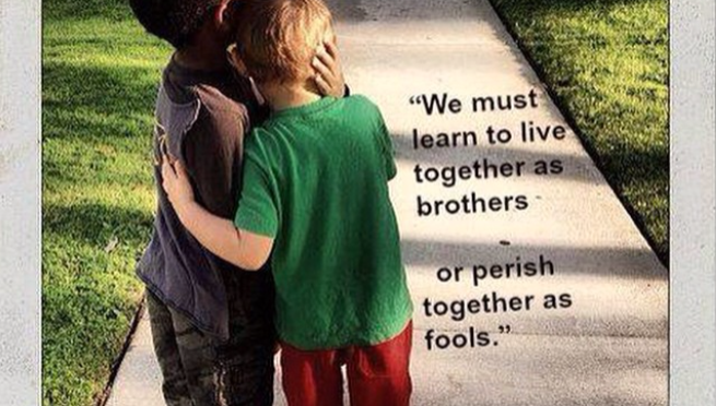"QUOTE:  Martin Luther King, Jr. ""Live Together"""