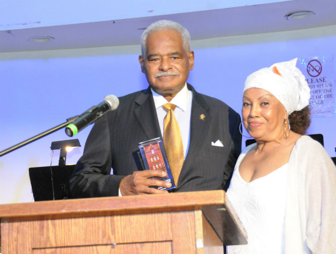 CCCADI Honoree Eugene Giscombe with President and Founder of CCCADI Dr