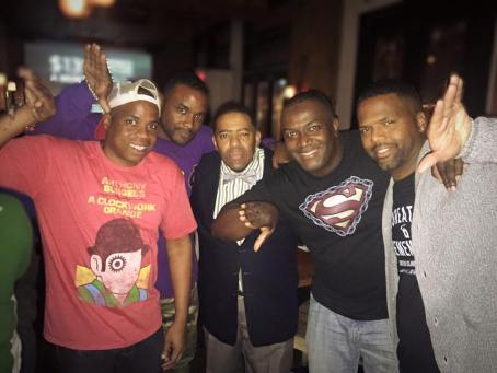 With Rene John-Sandy and HarlemQue Rob.