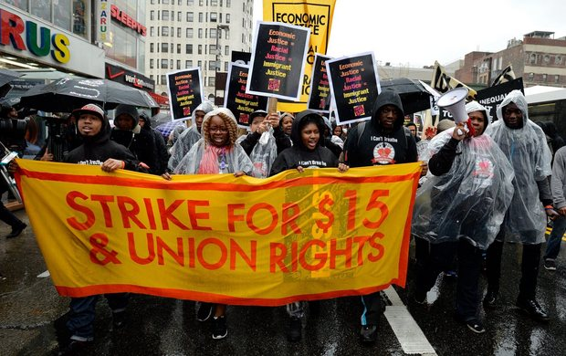 harlem fast food workers strike