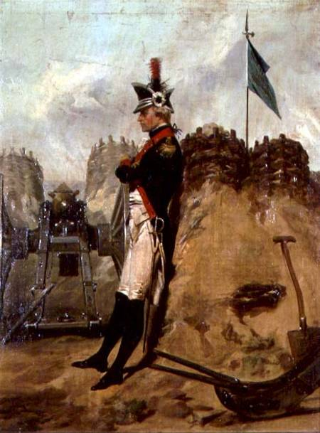 MNY90143 Alexander Hamilton (1757-1804) in the Uniform of the New York Artillery (oil on canvas) by Chappel, Alonzo (1828-87) oil on canvas © Museum of the City of New York, USA American, out of copyright