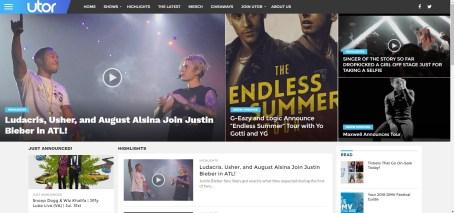 utor site screen shot