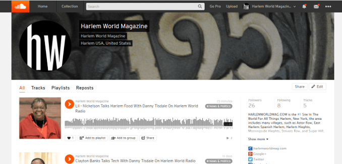 hwmag on soundcloud screen shot