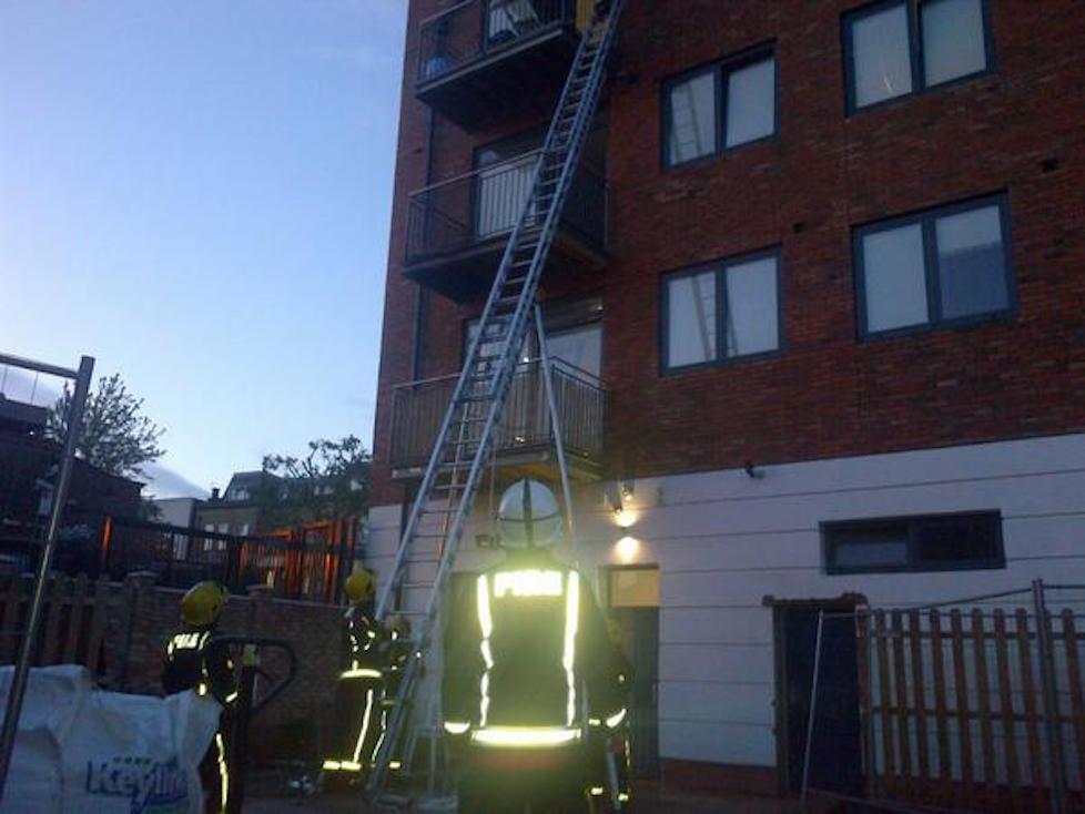 Bonkers balcony BBQ blaze