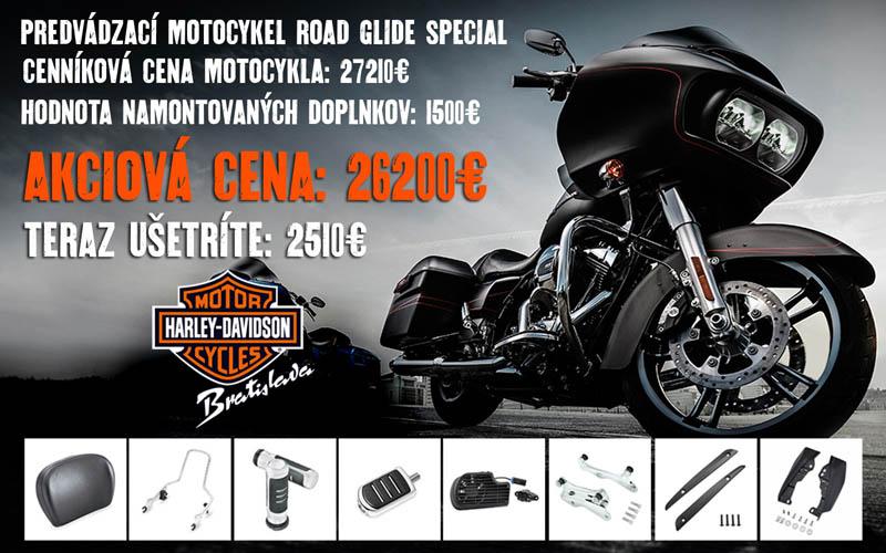 AKCIA testovací motocykel Harley-Davidson Road Glide