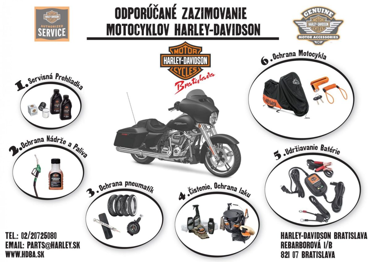 Akcia na zazimovanie motocykla Harley-Davidson