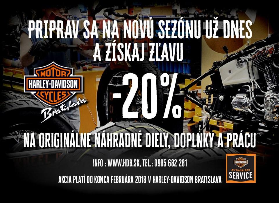 Zimná akcia na motorky Harley-Davidson Bratislava