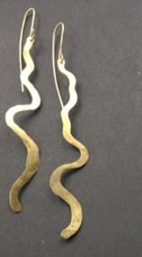 Brass Riverine Earrings