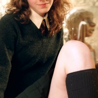 Magic filling up the air every time Hermione Jean Granger flashing her white panties!