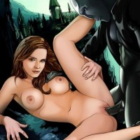 Hermione Granger is a horny slut! - she is using magic to get double penetrated and suck a dick!