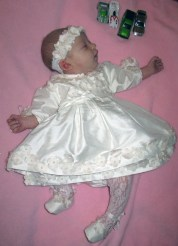 Blessing Gown in silk for Evie