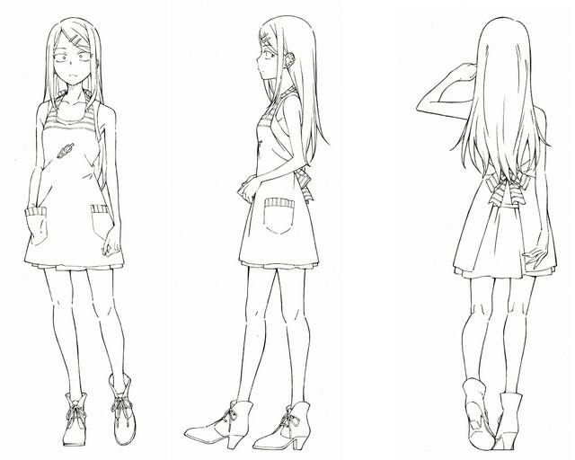 Dagashi Kashi anime character design Saya Endou