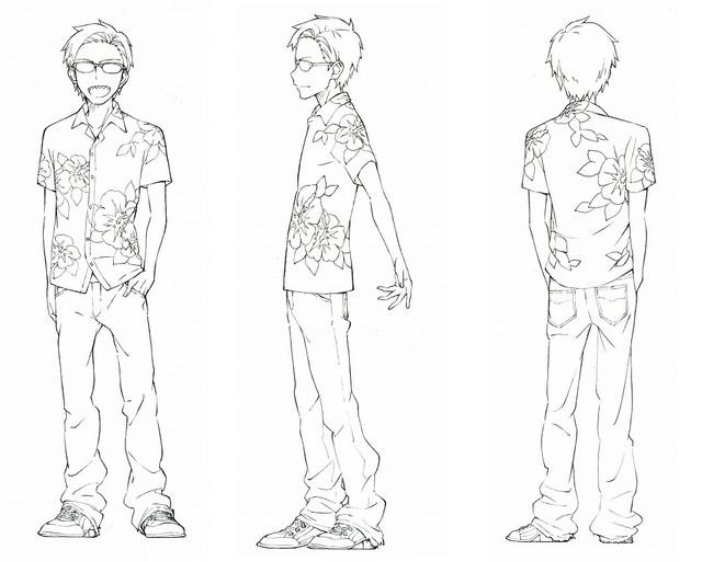 Dagashi Kashi anime character design Tou Endou