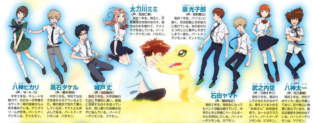 Digimon Adventure Tri. Poster Promotes the First Film character spread
