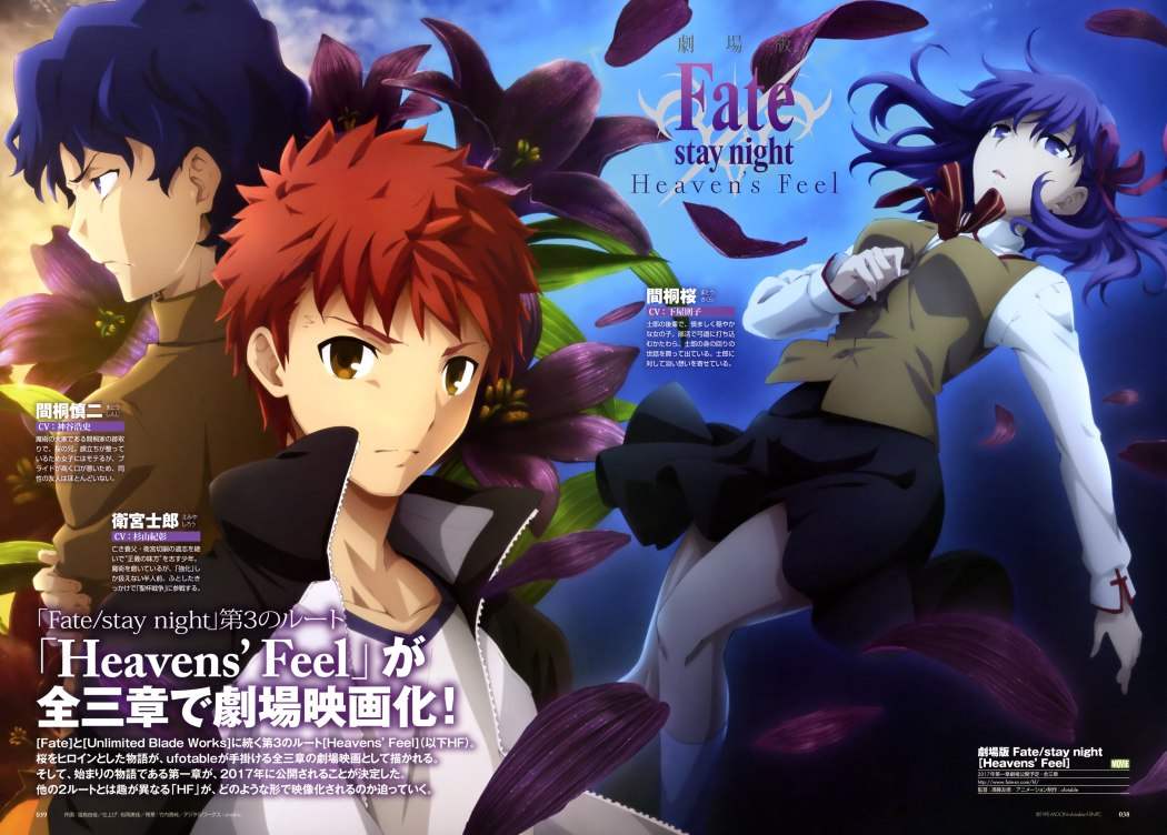 Fate Stay Night Heaven's Feel Visual Revealed