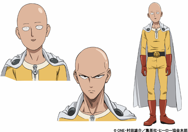 One Punch Man Saitama character designs