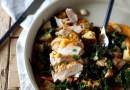 Pheasant with Spanish Patatas, Kale, and Romesco