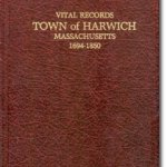 Book cover Harwich Vital Records - Births, deaths and Marriage intentions 1694-1850