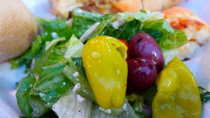 A beautiful and tasty Greek salad