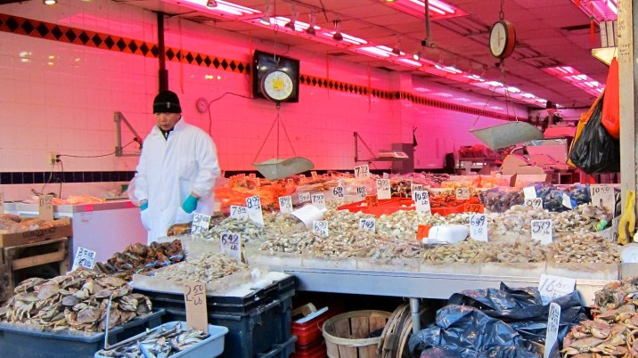 A beautiful dried seafood market.