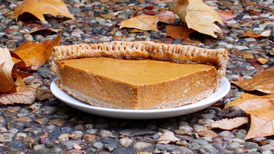 Pumpkin pie made by substituting ingredients