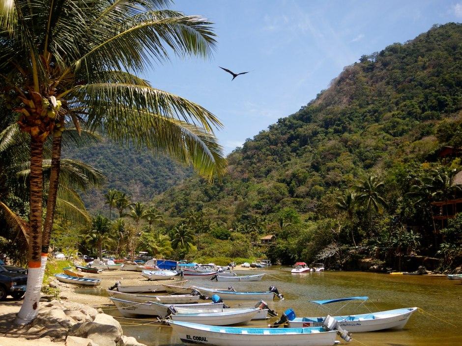 Boca is a sleepy little town cut into the mountainous coastline south of Puerto Vallarta where a river meets the ocean.