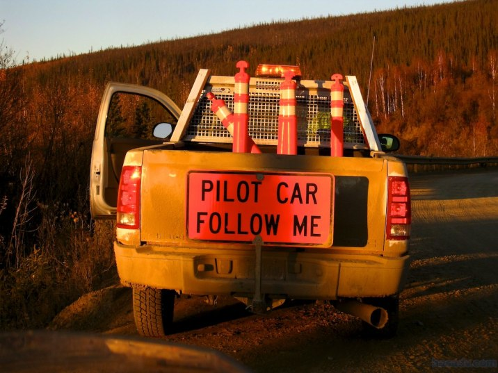 I follow the pilot car from 6:30pm until after 8:00pm at no more than 20-mph.