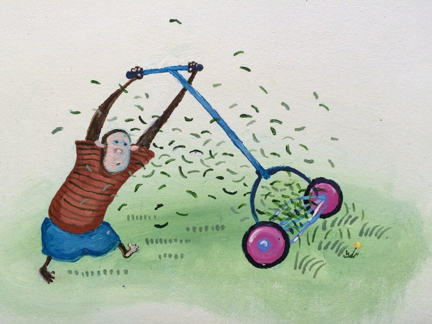 Monkey Mowing